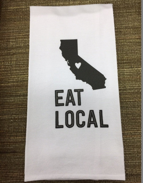 Eat Local California Dish Towel - Bella Bazaar, Dana Point
