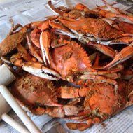 Steamed Blue Crabs - Female Crabs by the Half Bushel