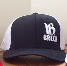 breckenridge embroidered trucker hat black