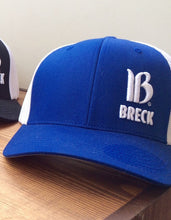 breckenridge embroidered trucker hat blue