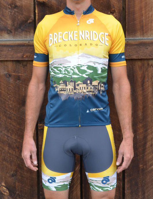Breckenridge Colorado Cycling Jersey Bib Short Kit