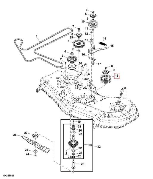 z425 mower deck schematic