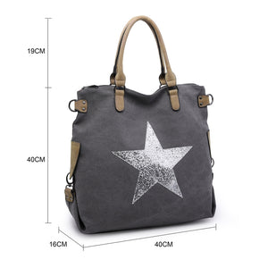 Large Weekender Sparkly Star Bag 2253