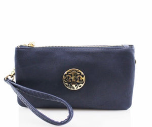 Purse with Wrist Strap and Crossbody Strap