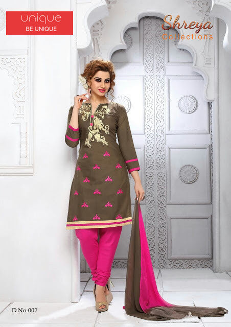 SHREYA COTTON DRESS MATERIAL WITH WORK
