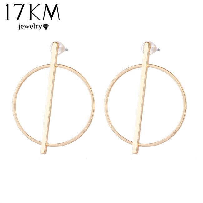 Simple Stud Earrings Hollow Out Ear Stud Earrings For Women  22N307
