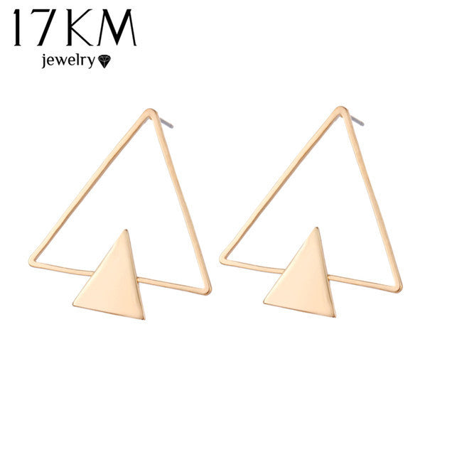Simple Stud Earrings Hollow Out Ear Stud Earrings For Women  22N309