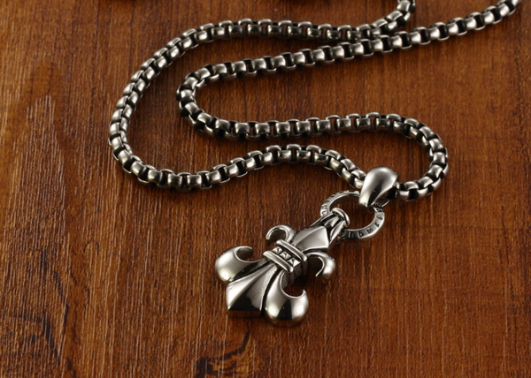 Anchor Pendant Necklace Link/Box Chain