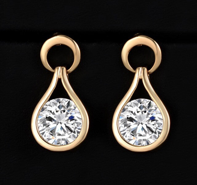 Round Crystal earrings jewelry Statement Earring