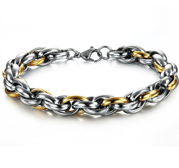 Stainless Steel Men cable bracelet