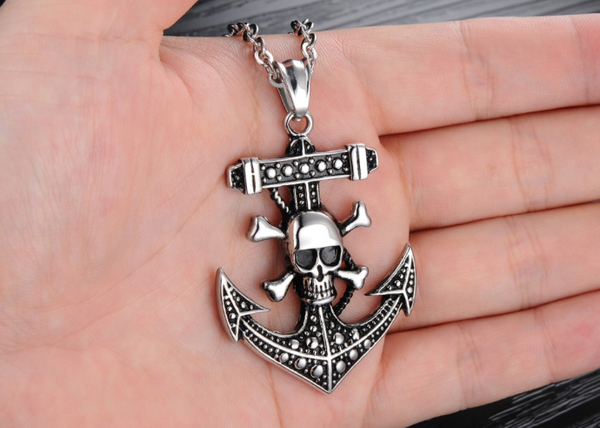 Skeleton Anchor Design Necklace