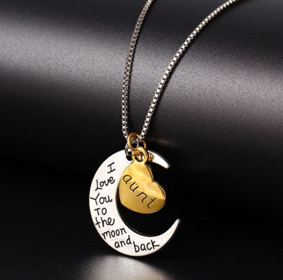 Moon Heart Pendant Necklace