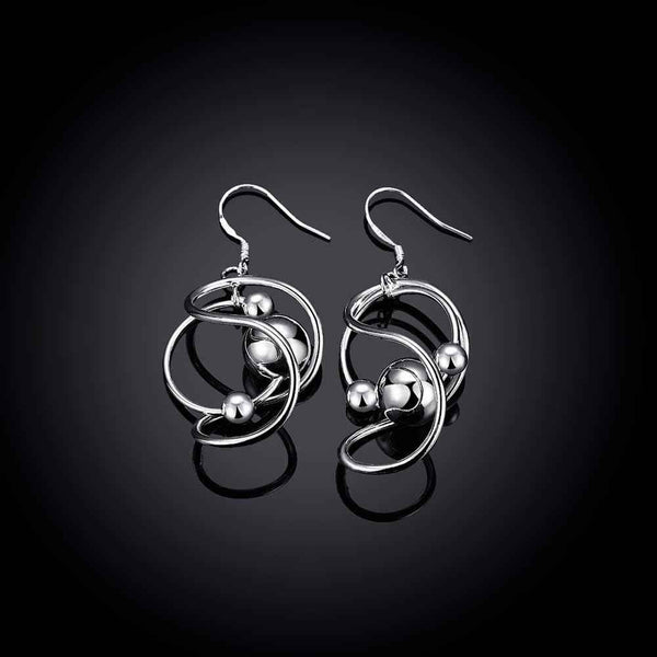 Silver earrings for women Fashion Bean drop