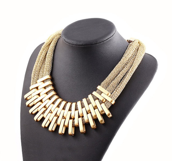 Matte Gold Plated Necklaces