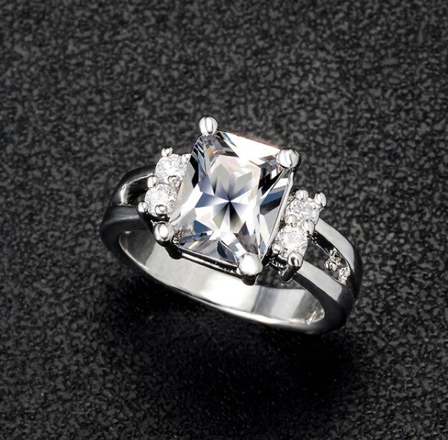 Austrian Crystal Engagement Ring