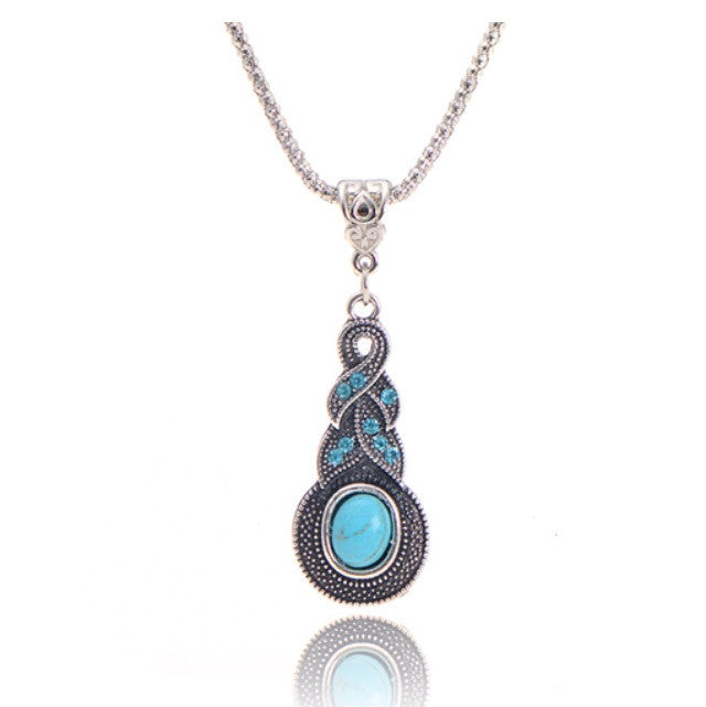 Turquoise infinity pendant necklace