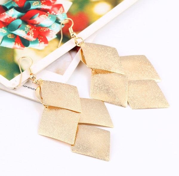 Elegant Plating Gold Silver Earrings