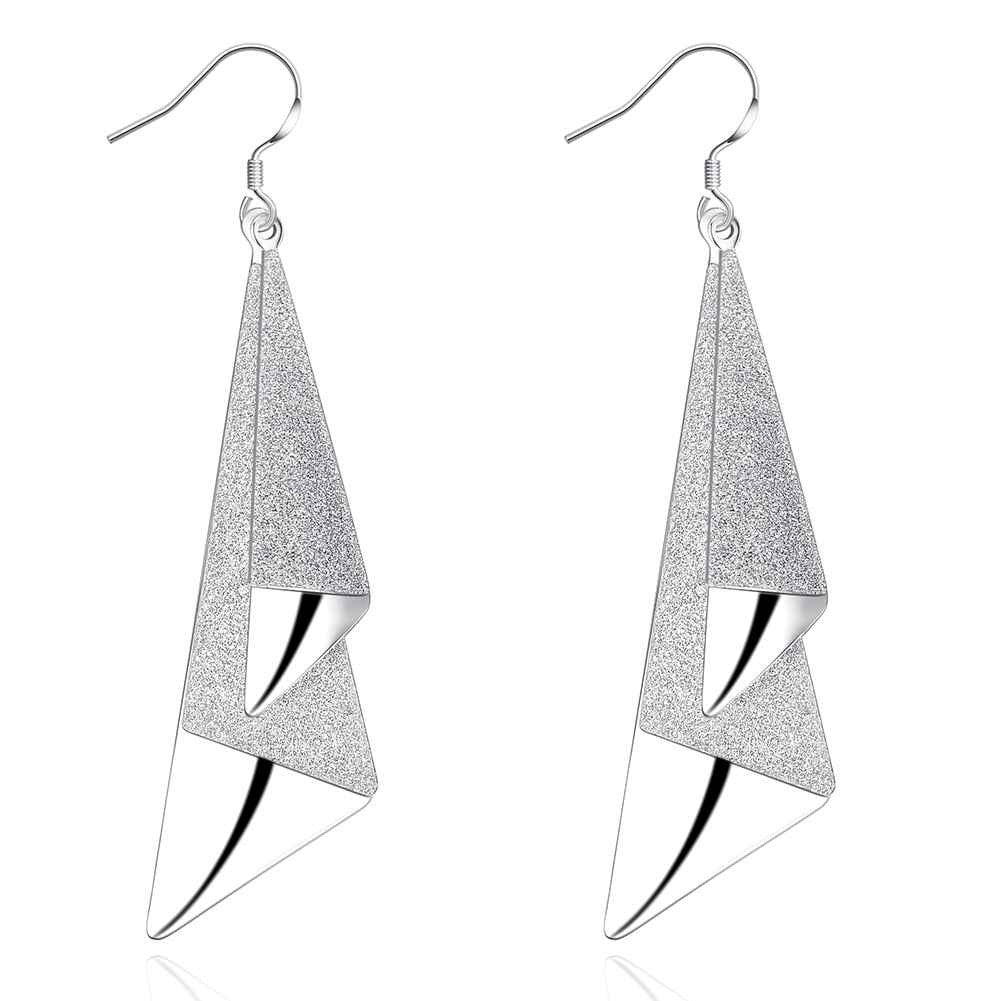 Fashion Style Silver plated Two Piece Earrings Jewellery