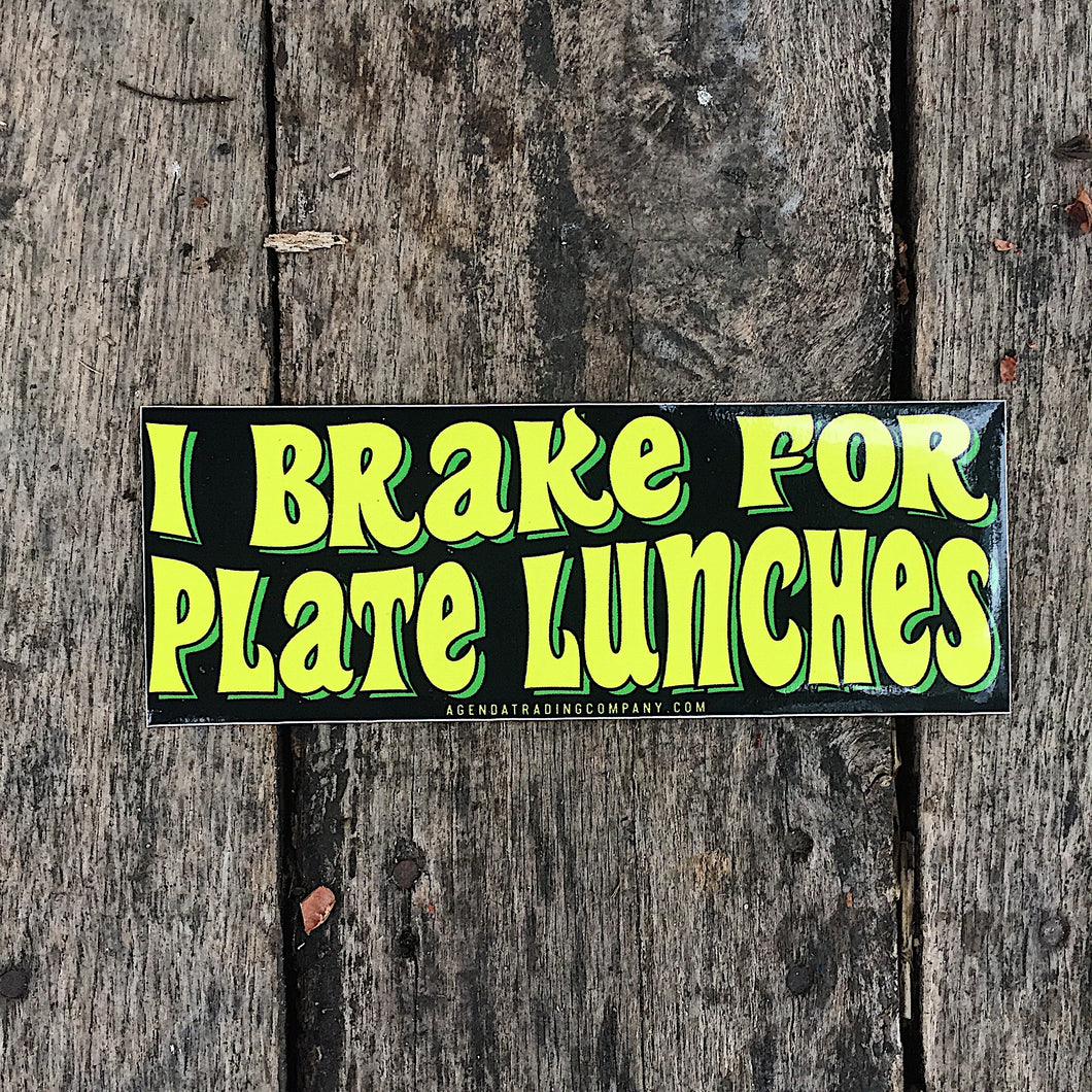 Plate lunch sticker
