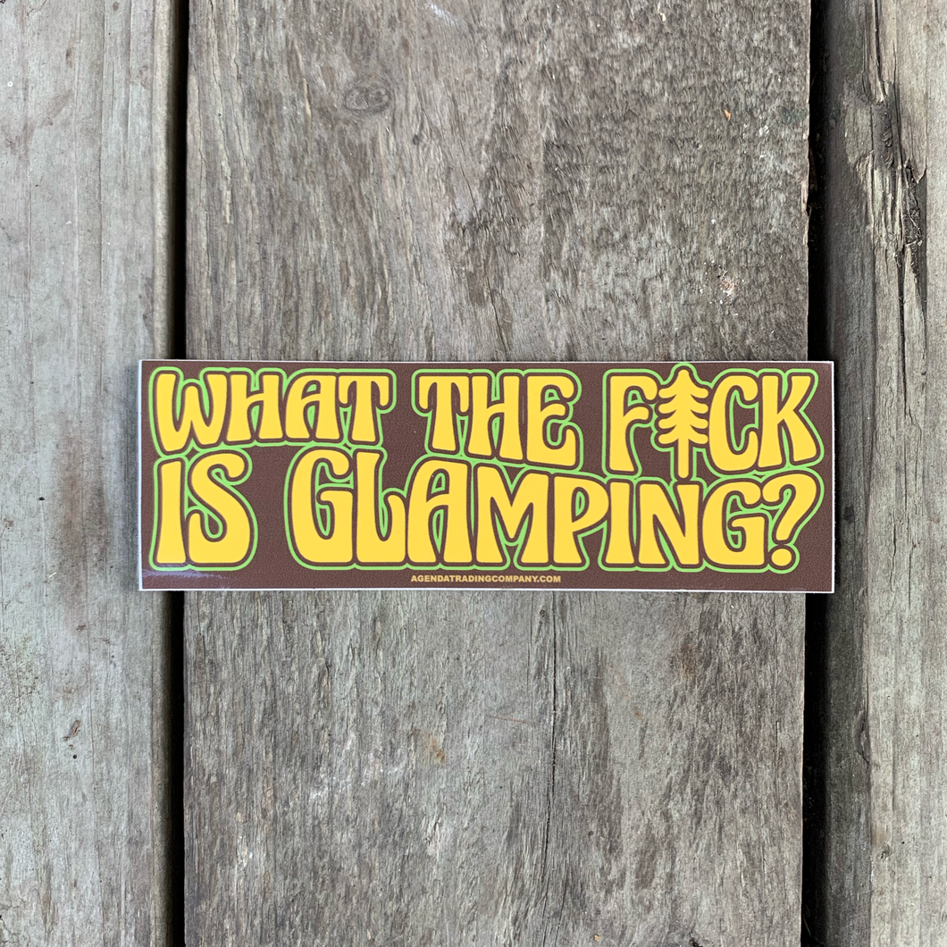 Glamping sticker