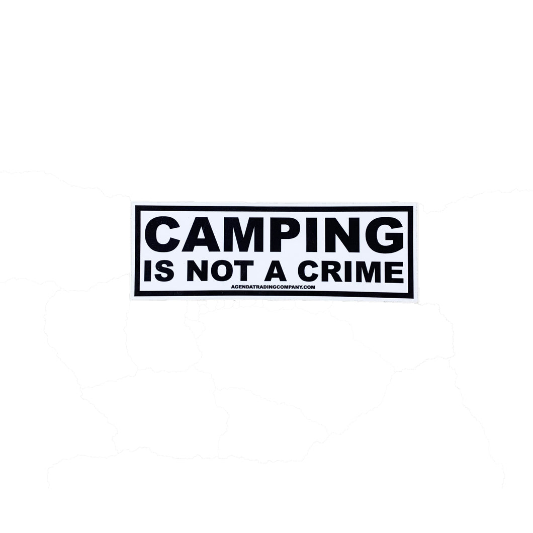Camping is not a crime sticker
