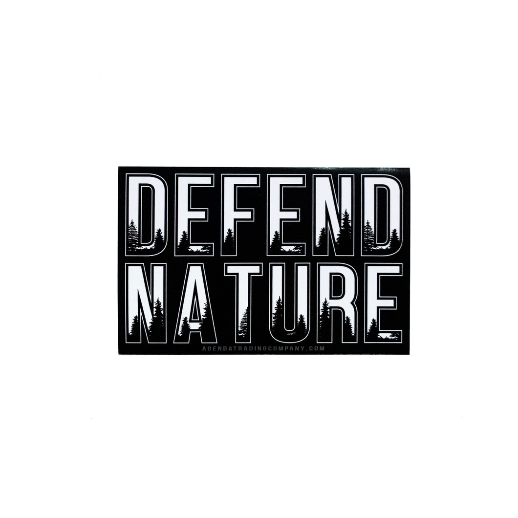 Defend Nature Sticker