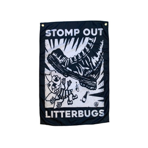 Stomp out litterbugs flag