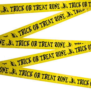 Trick Or Treat Zone Caution Tape