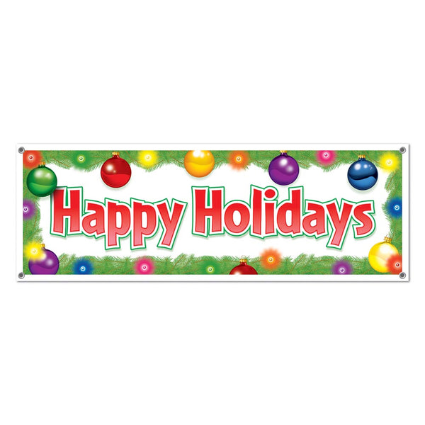 """Happy Holidays"" Banner"