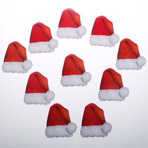 Mini Santa Hat Cutouts