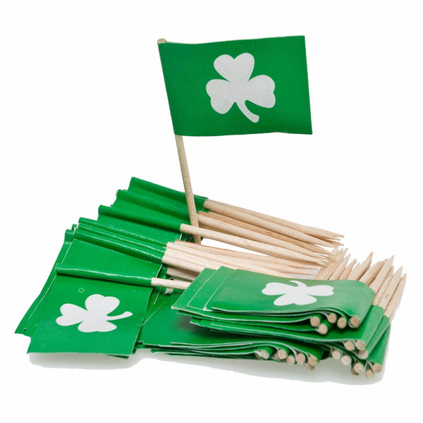 Shamrock Flag Food Picks