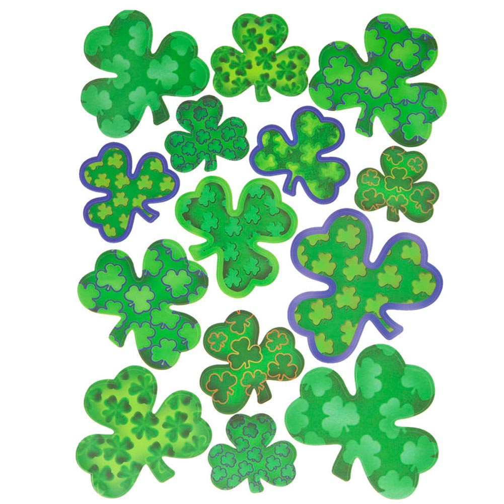 Deluxe Shamrock Window Clings