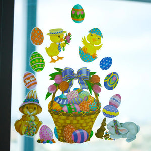 Easter Basket Glass Clings
