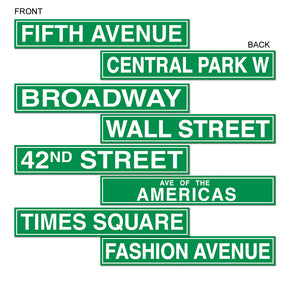 New York City Street Sign Cutouts