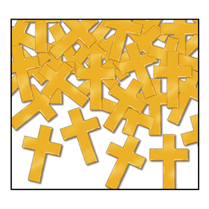 Gold Crosses Confetti