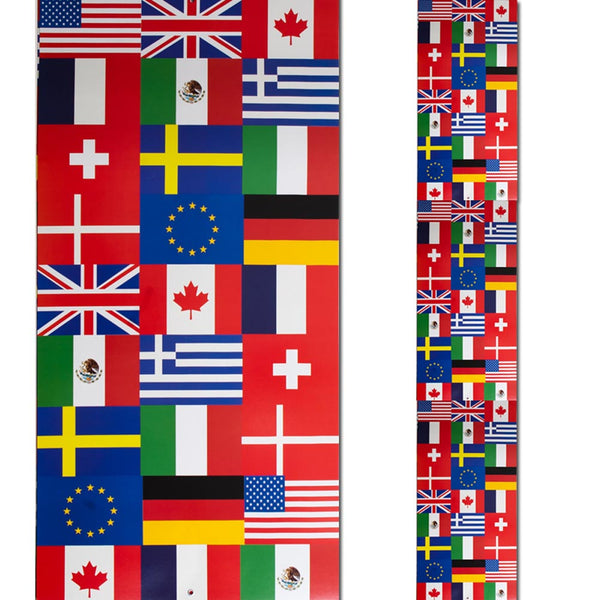 Jointed International Flags Pull-Down