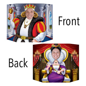 King and Queen 2-Sided Photo Prop