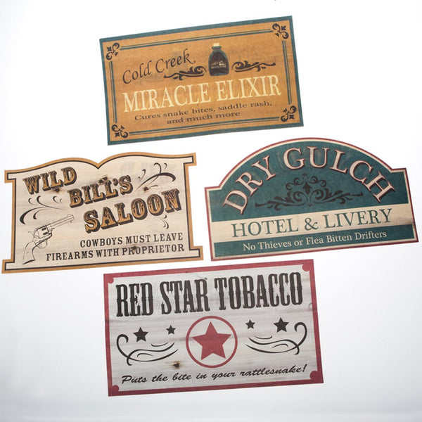 Old Style Western Signs
