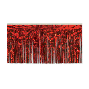 Red Metallic Table Skirting