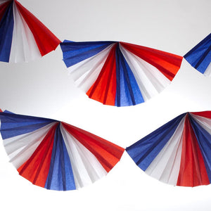 Patriotic Tissue Fan Garland