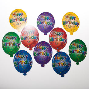 "Mini ""Happy Birthday"" Balloon Cutouts"