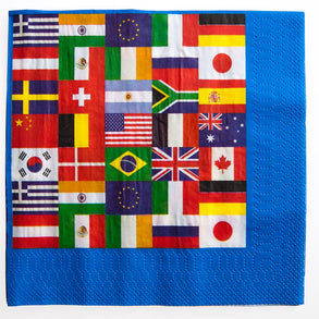 International Flags Lunch Napkins