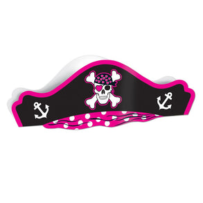 Pink Cardboard Pirate Hat