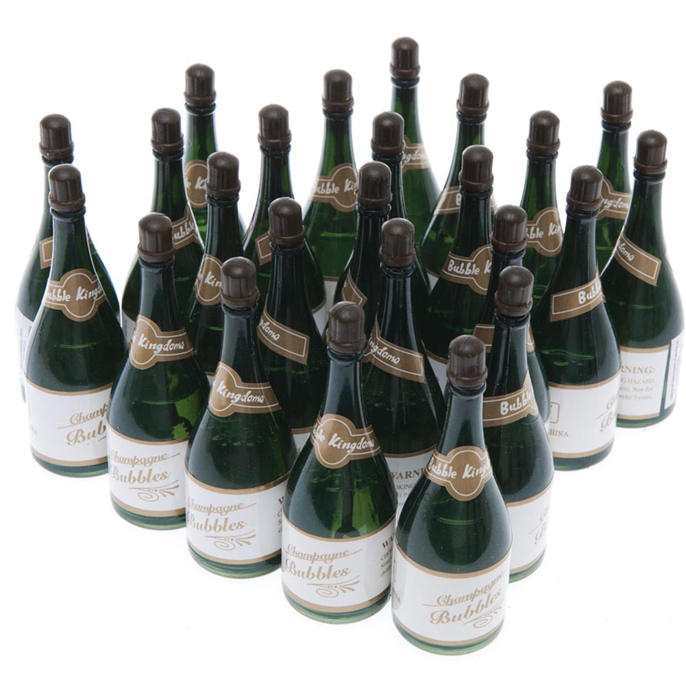 Sparkling Wedding Bubble Bottles