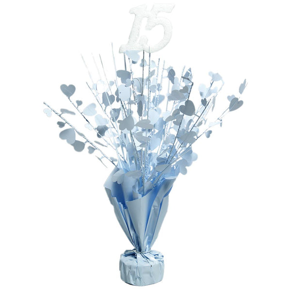 "White ""15"" Centerpieces -pkg/6"
