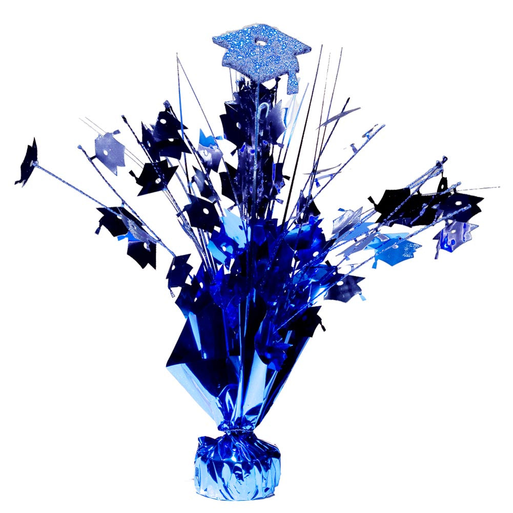 Blue Graduation Cap Centerpieces -pkg/6