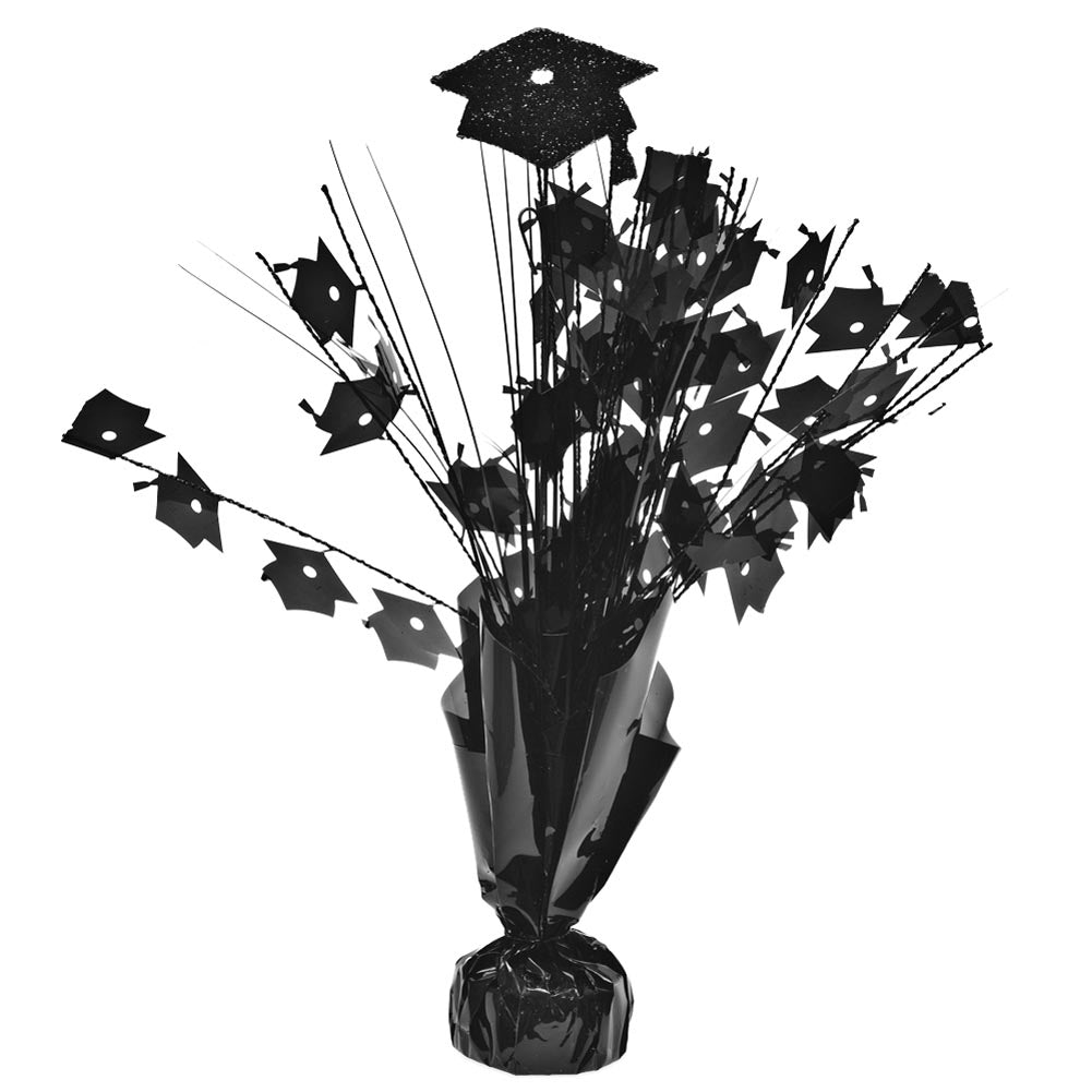 Black Graduation Cap Centerpieces -pkg/6