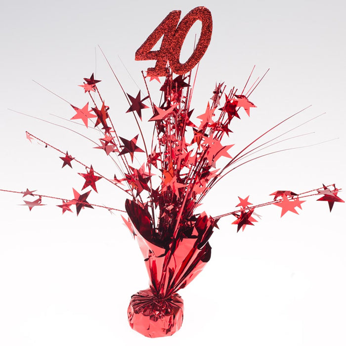 "Ruby Red ""40"" Centerpieces -pkg/6"