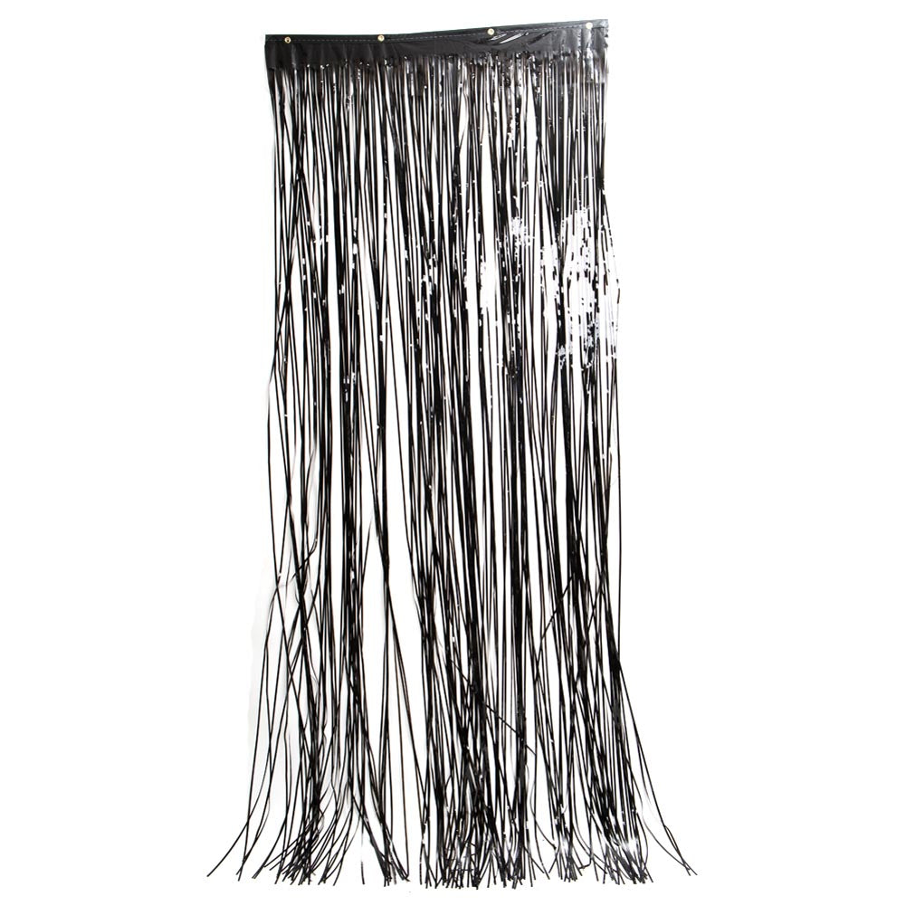 Black Metallic Curtain