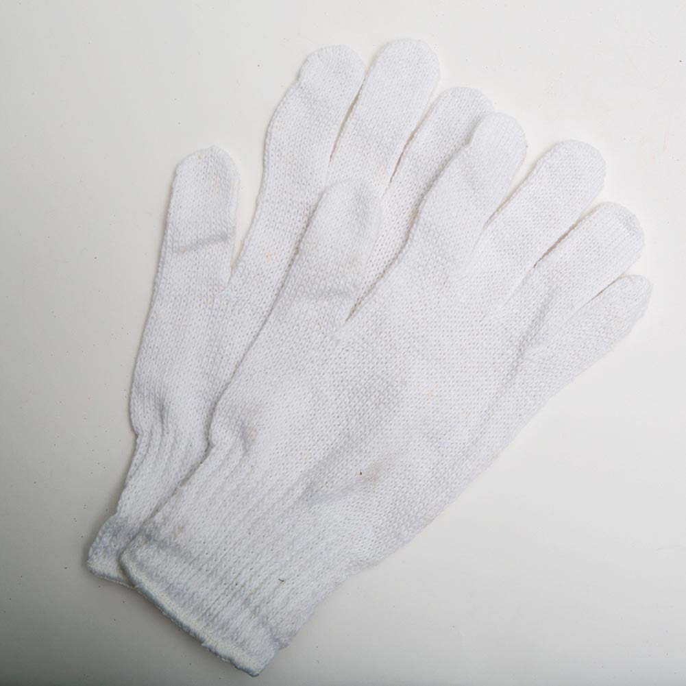 White Knit Stretchable Santa Gloves